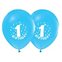 KullanAtMarket 1 Yaş Mavi Balon