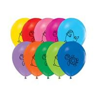 KullanAtMarket Deniz Hayvanları Baskılı Balon