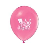 KullanAtMarket İlk Diş Pembe Metalik Balon