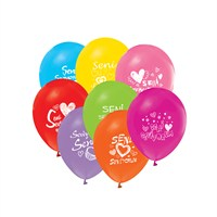 KullanAtMarket Seni Seviyorum Renkli Balon