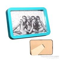 Fotoğraf Çerçevesi 4 Renk 4'Lü Set-Mavi