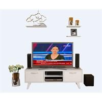 Bestline Carmen Tv Ünitesi (3 Raf Hediyeli)- Beyaz