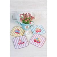 The Mia Bardak Altlığı Bakery - 4Lü Set