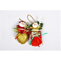 2'li Noelbaba Yılbaşı Dekor Süsleri