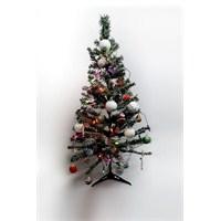 120 cm Yılbaşı Çam Ağacı Seti 12 Parça Süsü ve 2 Metre Renkli Işık
