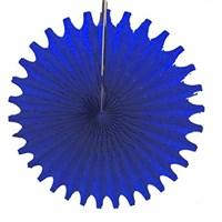 Pandoli Delikli Lacivert Renk Kağıt Yelpaze Süs 40 Cm 1 Adet