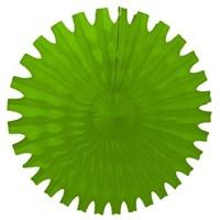 Pandoli Delikli Yeşil Renk Kağıt Yelpaze Süs 40 Cm 1 Adet