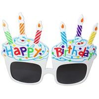 Pandoli Beyaz Happy Birthday Gözlük