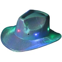 Pandoli Mavi Renk Işıklı Kovboy Şapkası