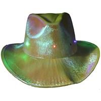 Pandoli Sarı Renk Işıklı Kovboy Şapkası