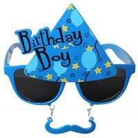 Pandoli Mavi Bıyıklı Birthday Boy Gözlük