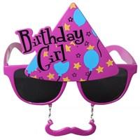 Pandoli Pembe Bıyıklı Birthday Girl Gözlük