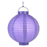 Pandoli 25 Cm Led Işıklı Kağıt Japon Feneri Lila Renk