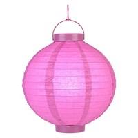Pandoli 25 Cm Led Işıklı Kağıt Japon Feneri Pembe Renk