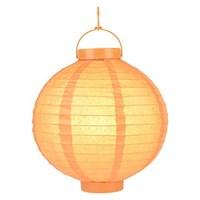 Pandoli 25 Cm Led Işıklı Kağıt Japon Feneri Turuncu Renk