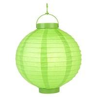 Pandoli 25 Cm Led Işıklı Kağıt Japon Feneri Yeşil Renk