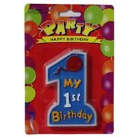 Pandoli My 1 St Birthday Mavi Renk Parti Mumu