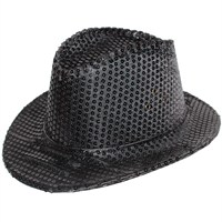 Pandoli Pullu Siyah Renk Kovboy Şapkası