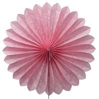 Pandoli Dilimli Pembe Renk Kağıt Yelpaze Süs 40 Cm 1 Adet