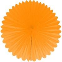 Pandoli Dilimli Oranj Renk Kağıt Yelpaze Süs 40 Cm 1 Adet