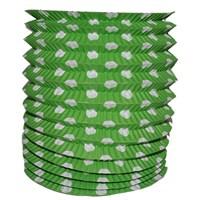 Pandoli Yeşil Beyaz Puanlı Kırmızı Renk Gemici Feneri Akordeon Uzar Süs
