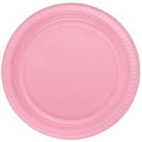 Pandoli Pembe Renk 22 Cm Plastik Parti Tabağı 25 Adet