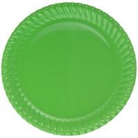 Pandoli Yeşil Renk 23 Cm Karton Parti Tabağı 8 Adet