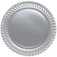Pandoli Gümüş Renk 23 Cm Karton Parti Tabağı 8 Adet