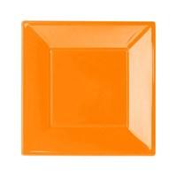 Pandoli Turuncu Renk Küçük Boy 17 Cm Plastik Parti Tabağı 8 Adet