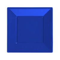 Pandoli Lacivert Renk Küçük Boy 17 Cm Plastik Parti Tabağı 8 Adet