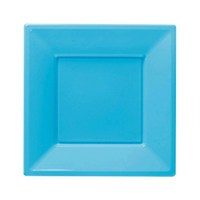 Pandoli Turkuaz Mavisi Renk Küçük Boy 17 Cm Plastik Parti Tabağı 8 Adet