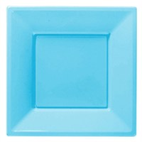 Pandoli Bebek Mavisi Renk Büyük Boy 23 Cm Plastik Parti Tabağı 8 Adet