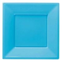Pandoli Turkuaz Mavisi Renk Büyük Boy 23 Cm Plastik Parti Tabağı 8 Adet