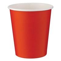 Pandoli Kırmızı Renk 180 Ml Karton Parti Bardağı 8 Adet