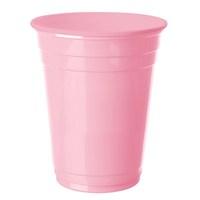 Pandoli 8 Adet Plastik Pembe Pembesi Renk Meşrubat Parti Bardağı 266 Ml