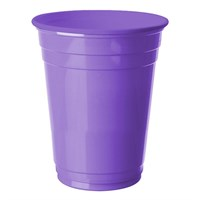 Pandoli 8 Adet Plastik Lila Renk Meşrubat Parti Bardağı 266 Ml
