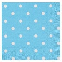 Pandoli Kağıt Parti Peçetesi 33 Cm Mavi Beyaz Puantiyeli 20 Adet