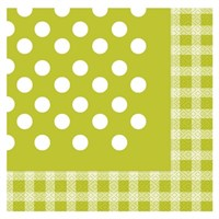 Pandoli Kağıt Parti Peçetesi 20 Adet Yeşil Kareli Puanlı 33 Cm