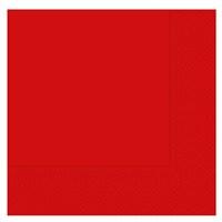 Pandoli 20 Adet Kırmızı Renk Kağıt Parti Peçetesi 33 Cm