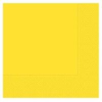 Pandoli 20 Adet Sarı Renk Kağıt Parti Peçetesi 33 Cm