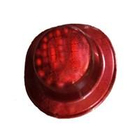 Pandoli Kırmızı Renk Desenli Plastik Parti Şapkası