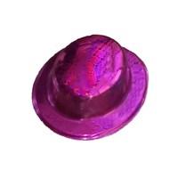 Pandoli Pembe Renk Desenli Plastik Parti Şapkası