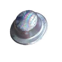 Pandoli Gümüş Renk Desenli Plastik Parti Şapkası