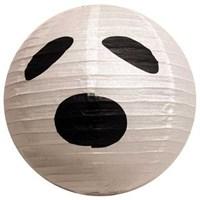 Pandoli Cadılar Bayramı 30 Cm Hayalet Desenli Fener Süs Beyaz Renk