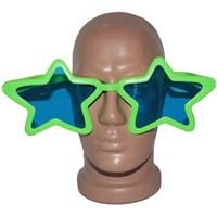 Pandoli Süperstar Yıldızlı Parti Gözlüğü Yeşil Renk