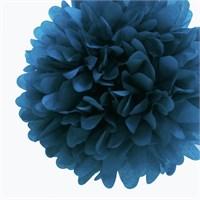 Pandoli 35 Cm Lacivert Renk Pelur Kağıt Ponpon Çiçek Asma Süs 1 Adet