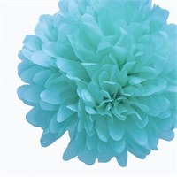 Pandoli 35 Cm Bebek Mavisi Renk Pelur Kağıt Ponpon Çiçek Asma Süs