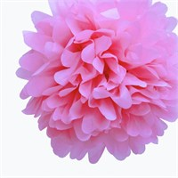 Pandoli 35 Cm Bebek Pembesi Renk Pelur Kağıt Ponpon Çiçek Asma Süs