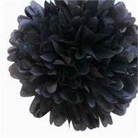 Pandoli 35 Cm Siyah Renk Pelur Kağıt Ponpon Çiçek Asma Süs 1 Adet
