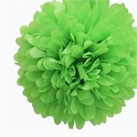Pandoli 35 Cm Yeşil Renk Pelur Kağıt Ponpon Çiçek Asma Süs 1 Adet